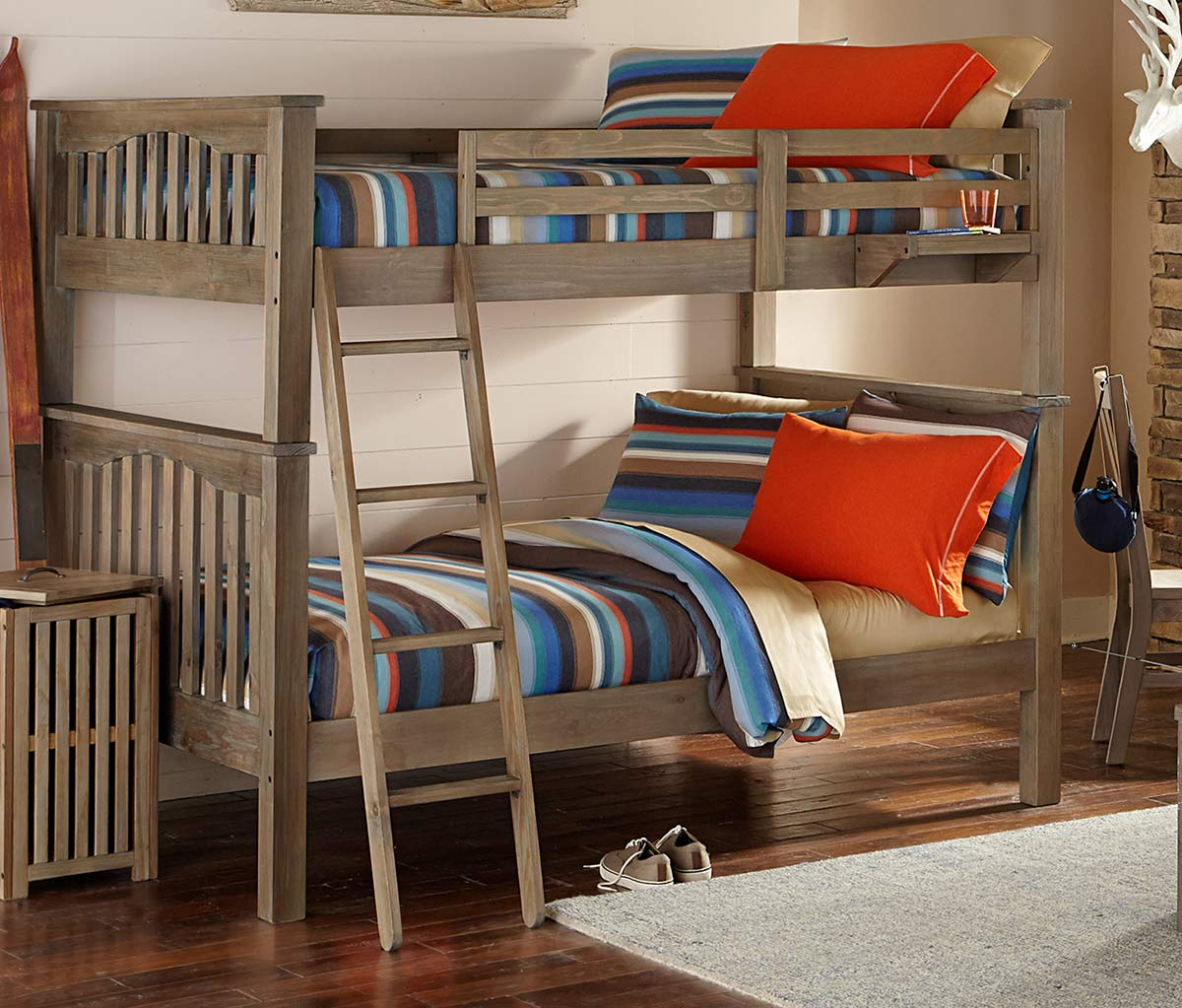NE Kids Highlands Harper Full Over Full Bunk - Driftwood