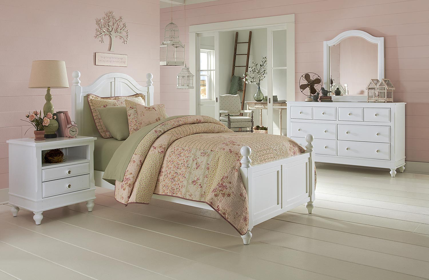 NE Kids Lake House Payton Arch Bedroom Set - White