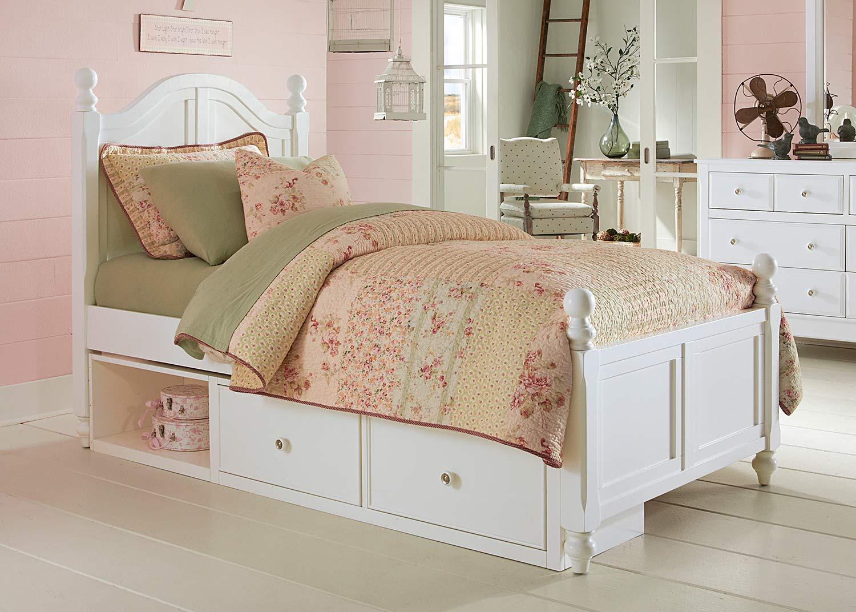 NE Kids Lake House Payton Arch Bed With Storage   White
