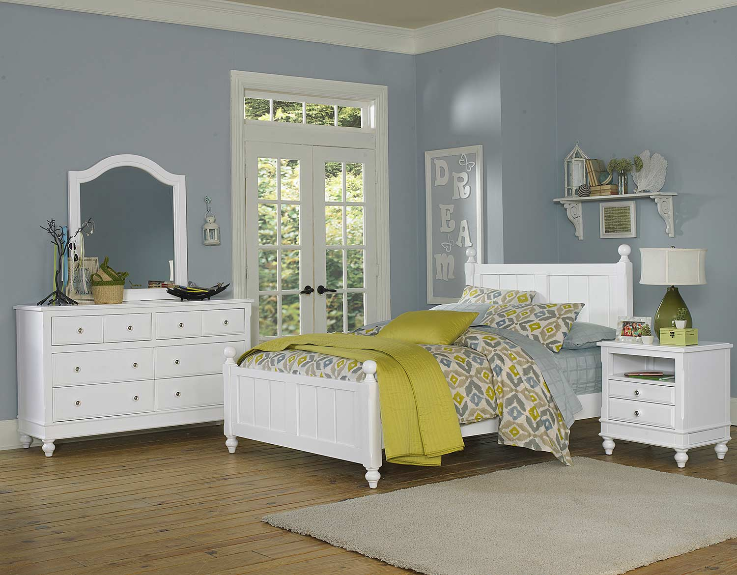 NE Kids Lake House Kennedy Panel Bedroom Set - White