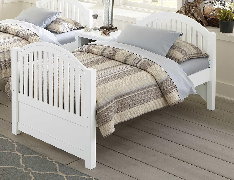 NE Kids Lake House Adrian Twin Bed - White