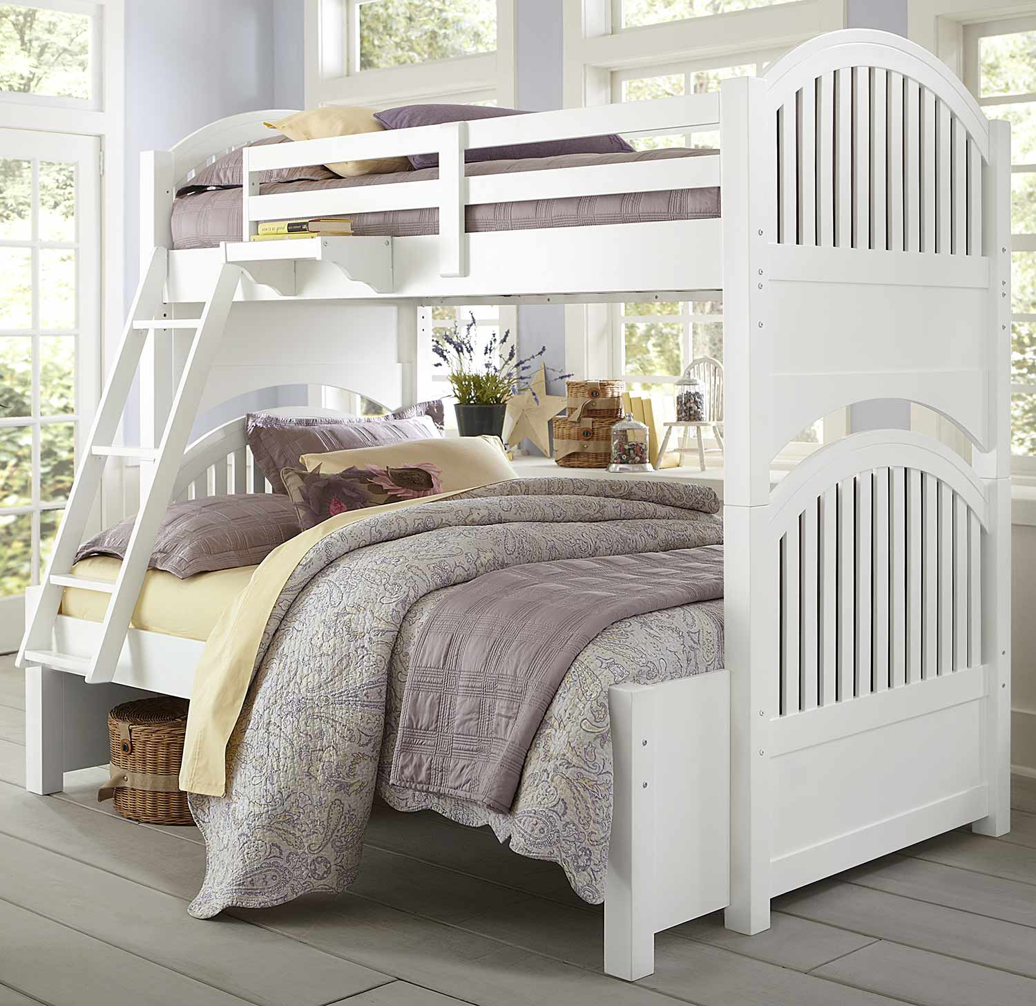 NE Kids Lake House Adrian Twin Over Full Bunk - White