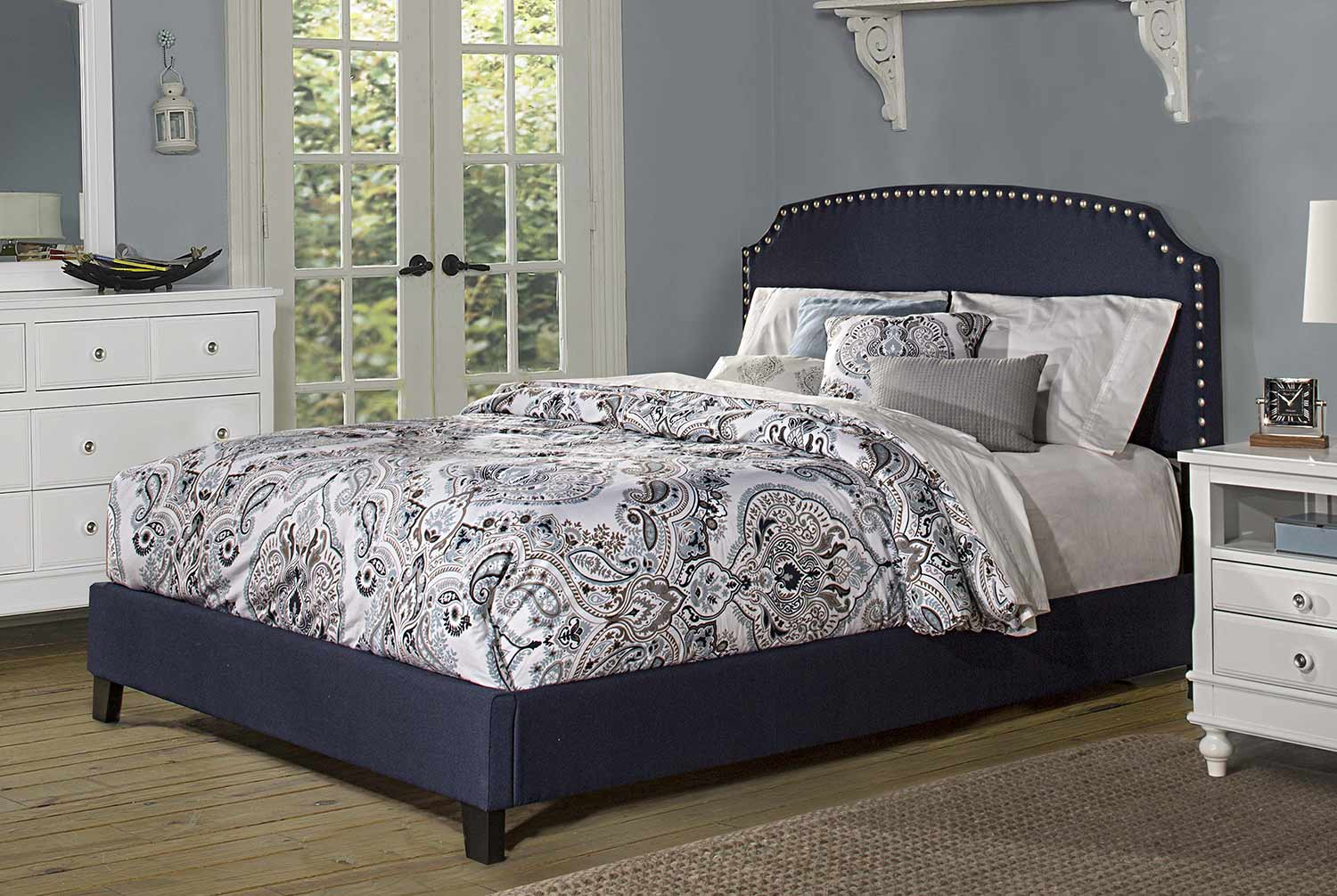 Hillsdale Lani Bed - Navy Linen
