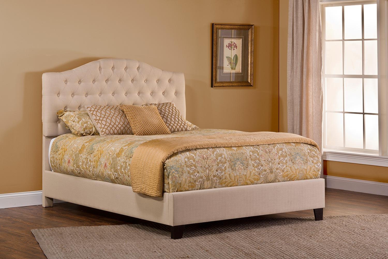 Hillsdale Jamie Upholstered Bed - Linen Beige