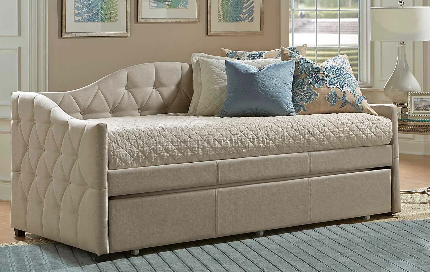 Hillsdale Jamie Daybed with Trundle - Beige