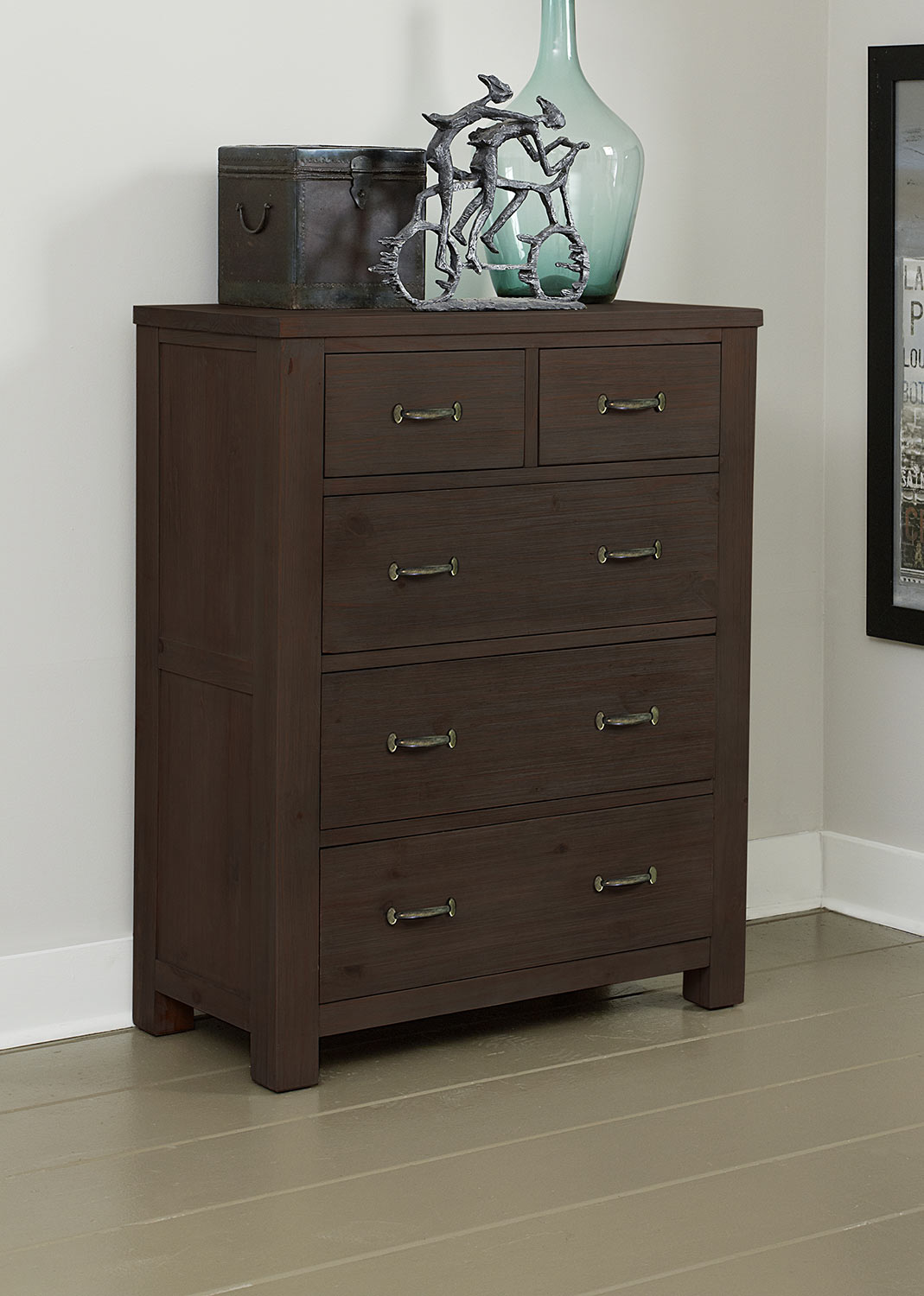 NE Kids Highlands 5 Drawer Chest - Espresso