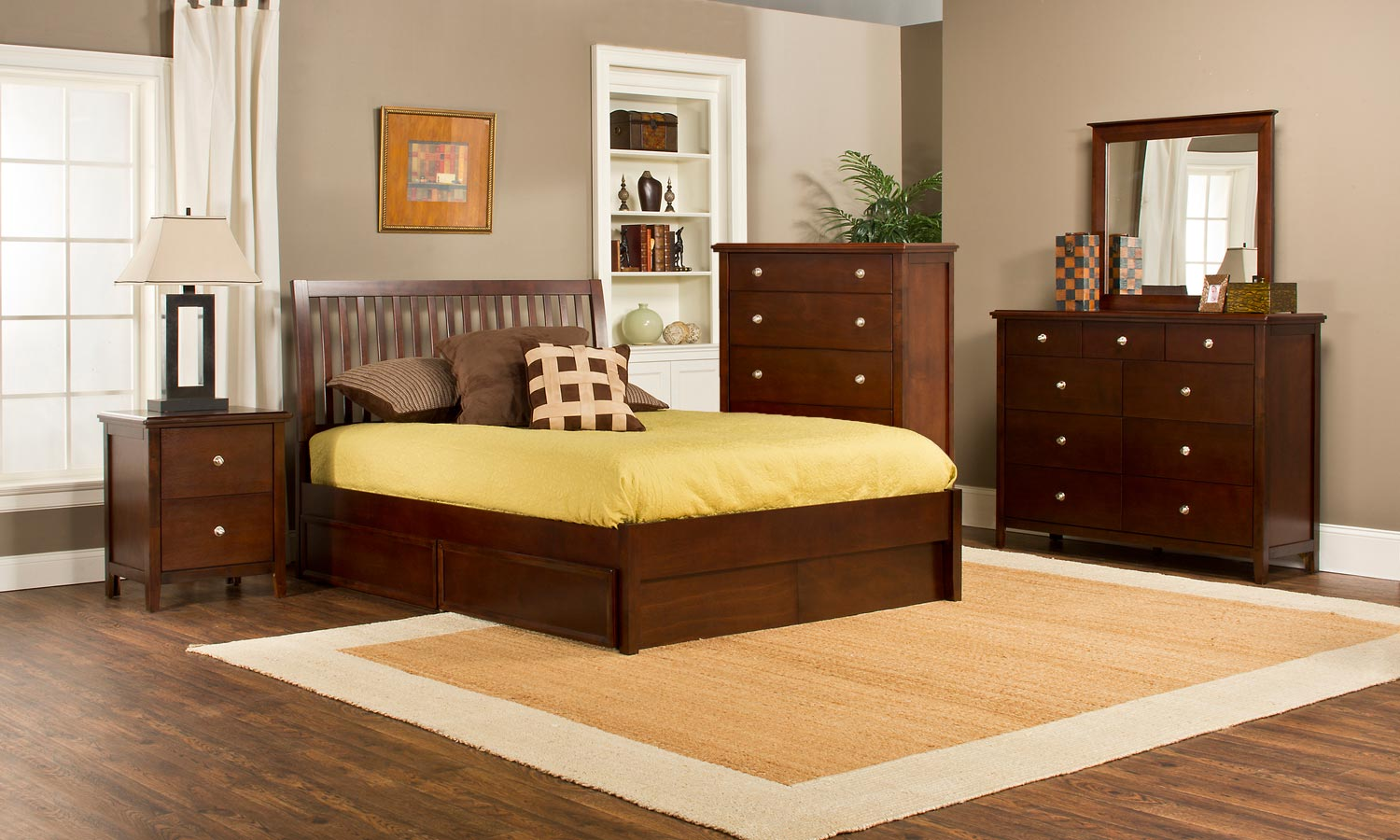 Hillsdale Metro Liza Storage 5-Piece Bedroom Collection - Cherry