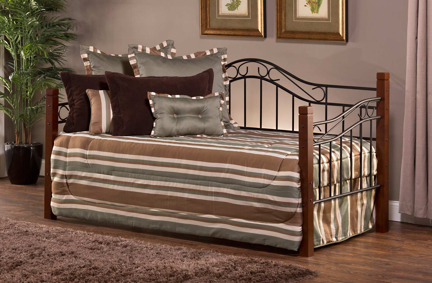 Hillsdale Matson Daybed with Suspension Deck - Cherry/Black