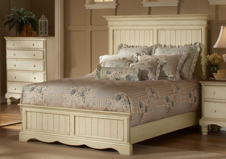 Hillsdale Wilshire Panel Bedroom Set - Antique White 1172573BQR-BED ...