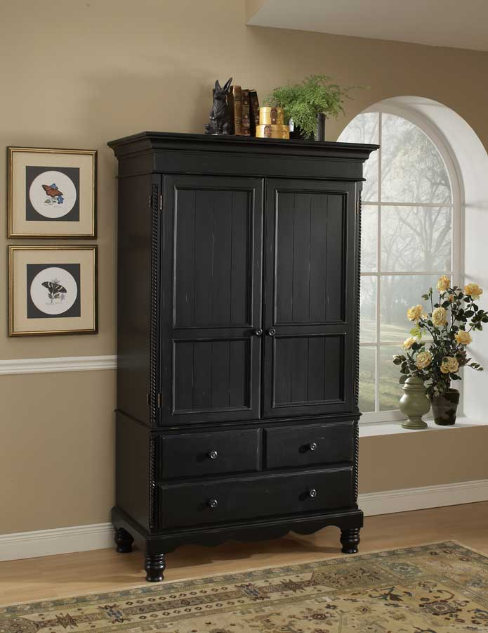 Hillsdale Wilshire Post Bedroom Collection Rubbed Black B1173
