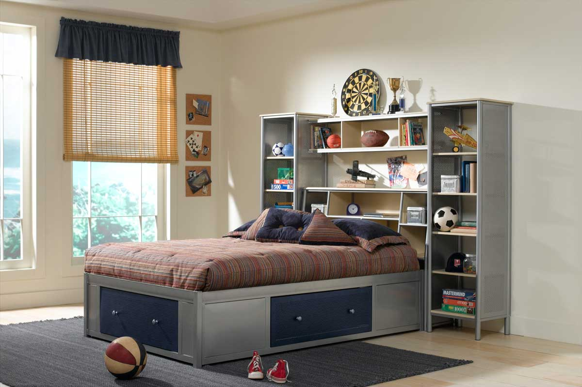 Hilale Universal Youth Platform With Wall Storage Bed 1178