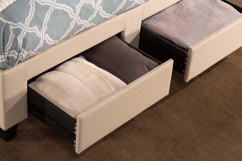 Hillsdale Duggan 6 Drawer Storage Bed - Linen Beige