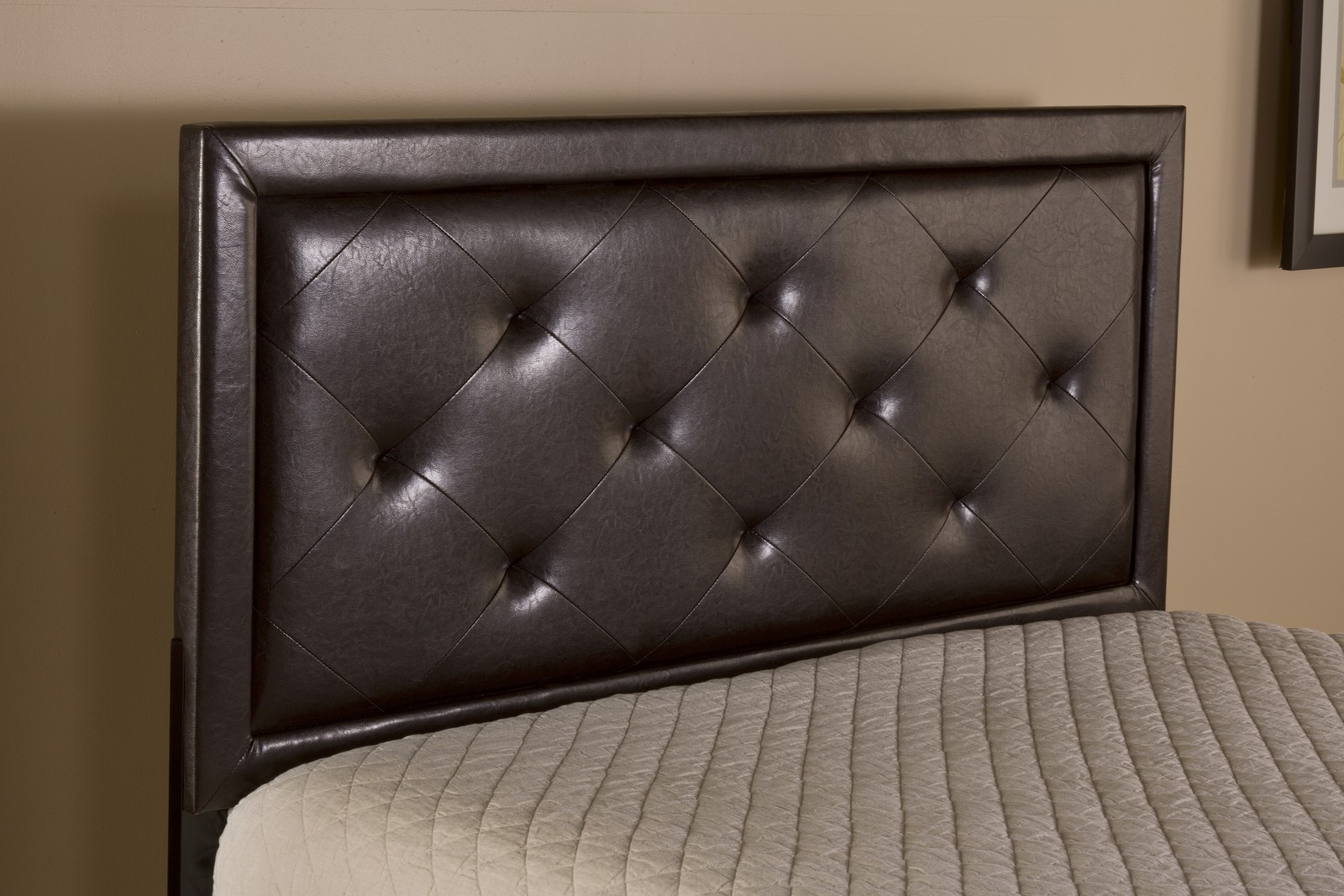 hillsdale becker headboard  brown faux leather htwrb, Headboard designs