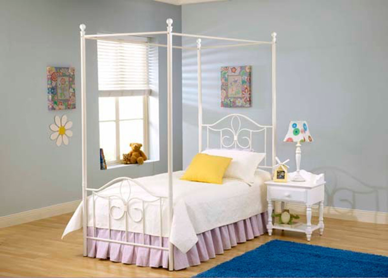 Hillsdale Westfield Youth Metal Canopy Bed & Hillsdale Westfield Youth Metal Canopy Bed 1354-CNP-Bed ...