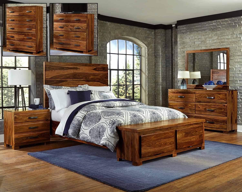 Hillsdale madera storage bedroom set natural