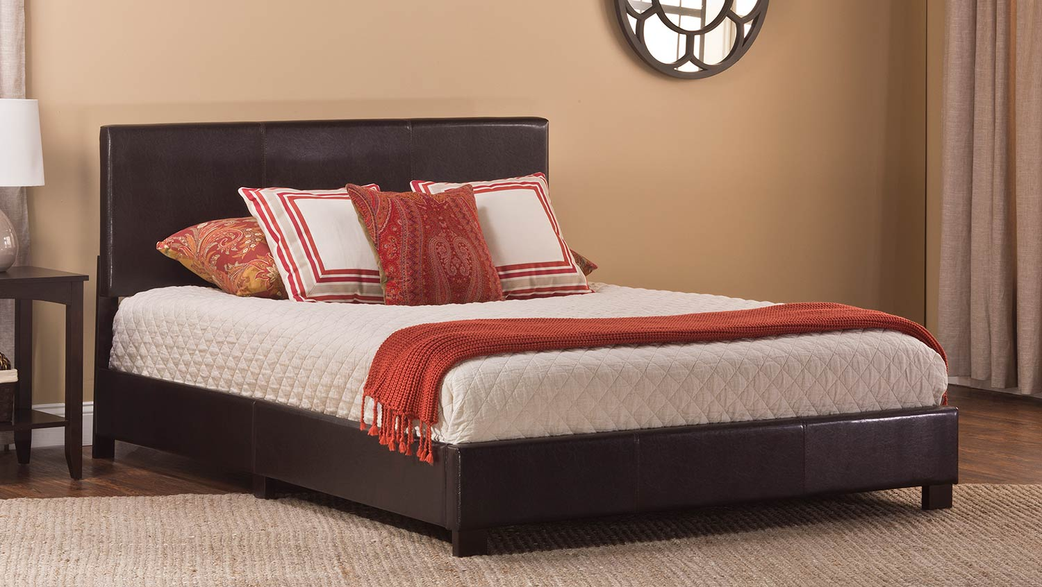 Hillsdale Hayden Bed - Brown Leatherete
