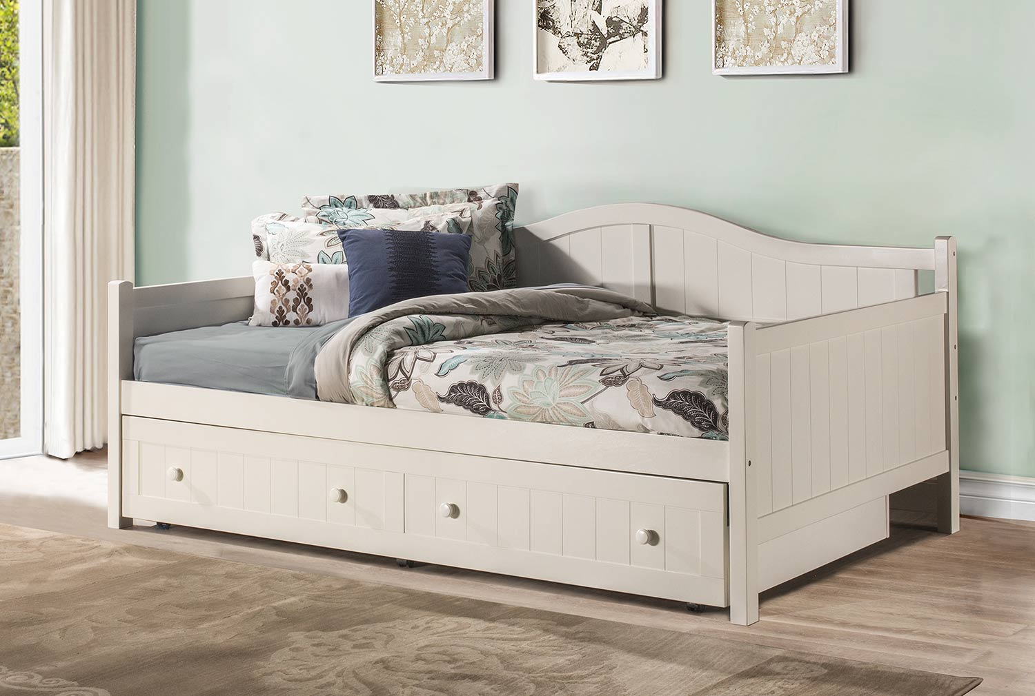 - Hillsdale Staci Daybed With Trundle - Full - White 1525FDBT