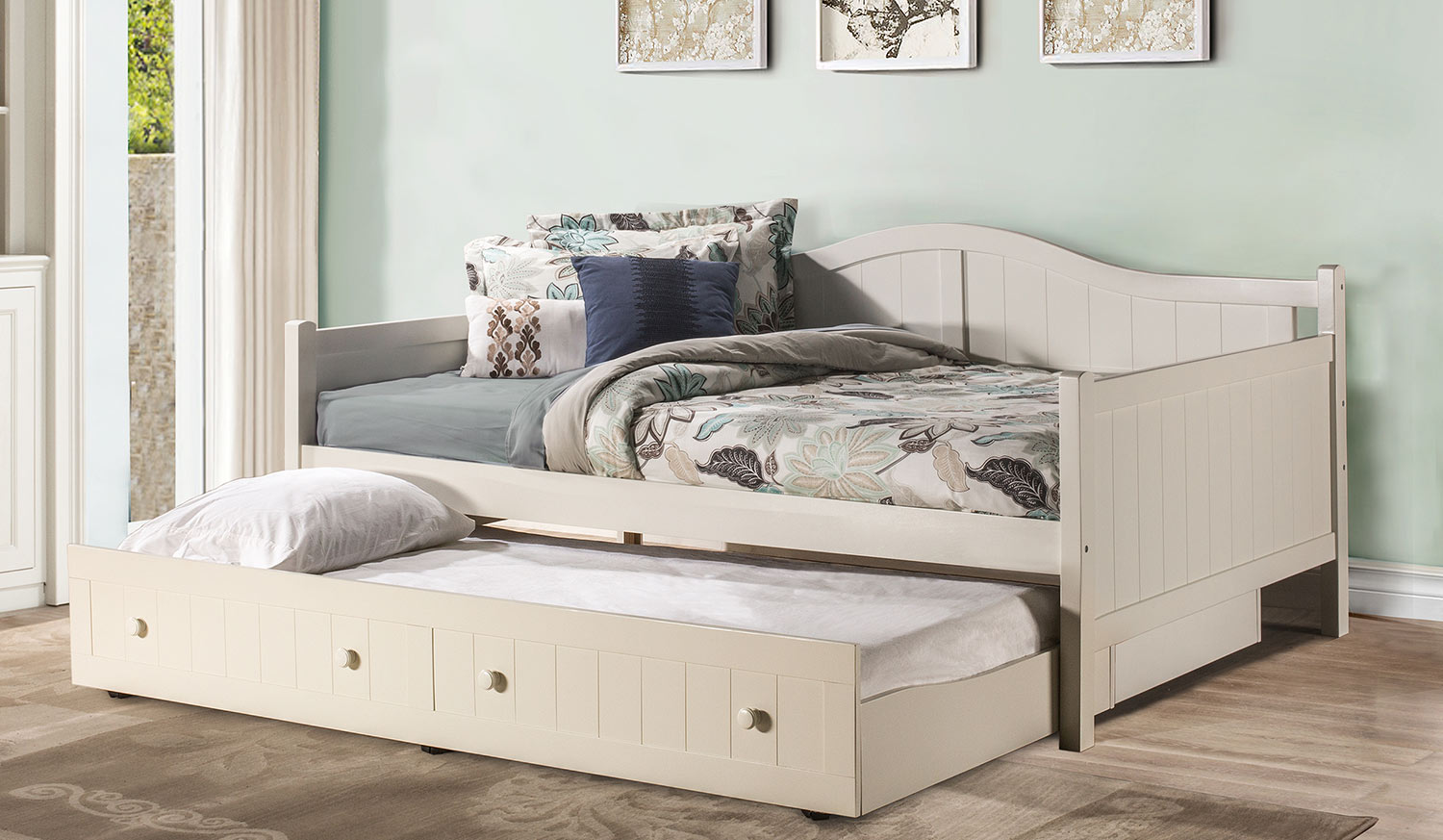 Hillsdale Staci Daybed with Trundle - Full - White