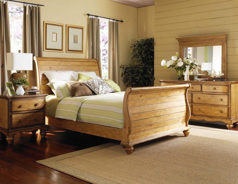 Hillsdale Hamptons Sleigh Bedroom Set Weathered Pine