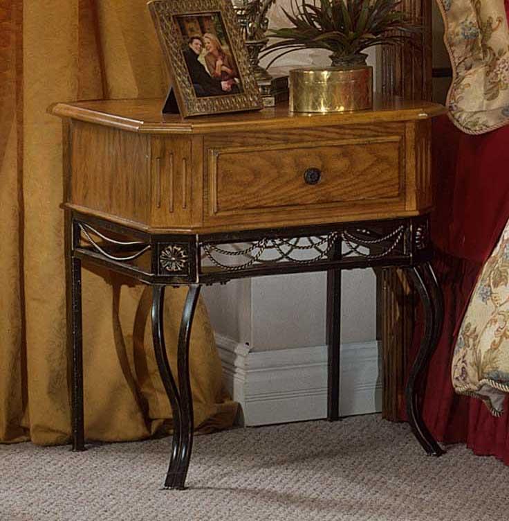 simple metal nightstands hillsdale camelot metal wood nightstand in oak 1710 771