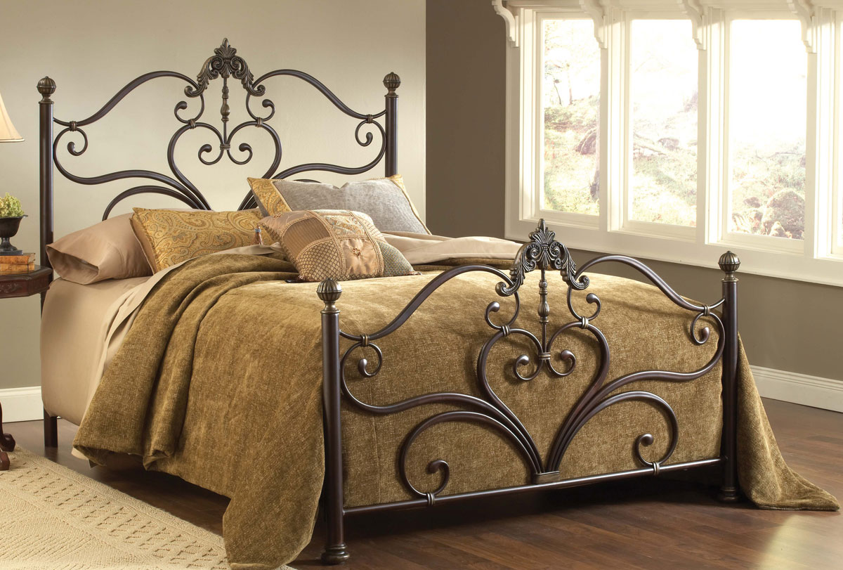Hillsdale Newton Bed - Antique Brown Highlight 1756-BED ...