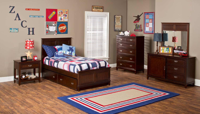 Hillsdale nantucket bedroom collection espresso 1762 bed set hillsdalefurnituremart com