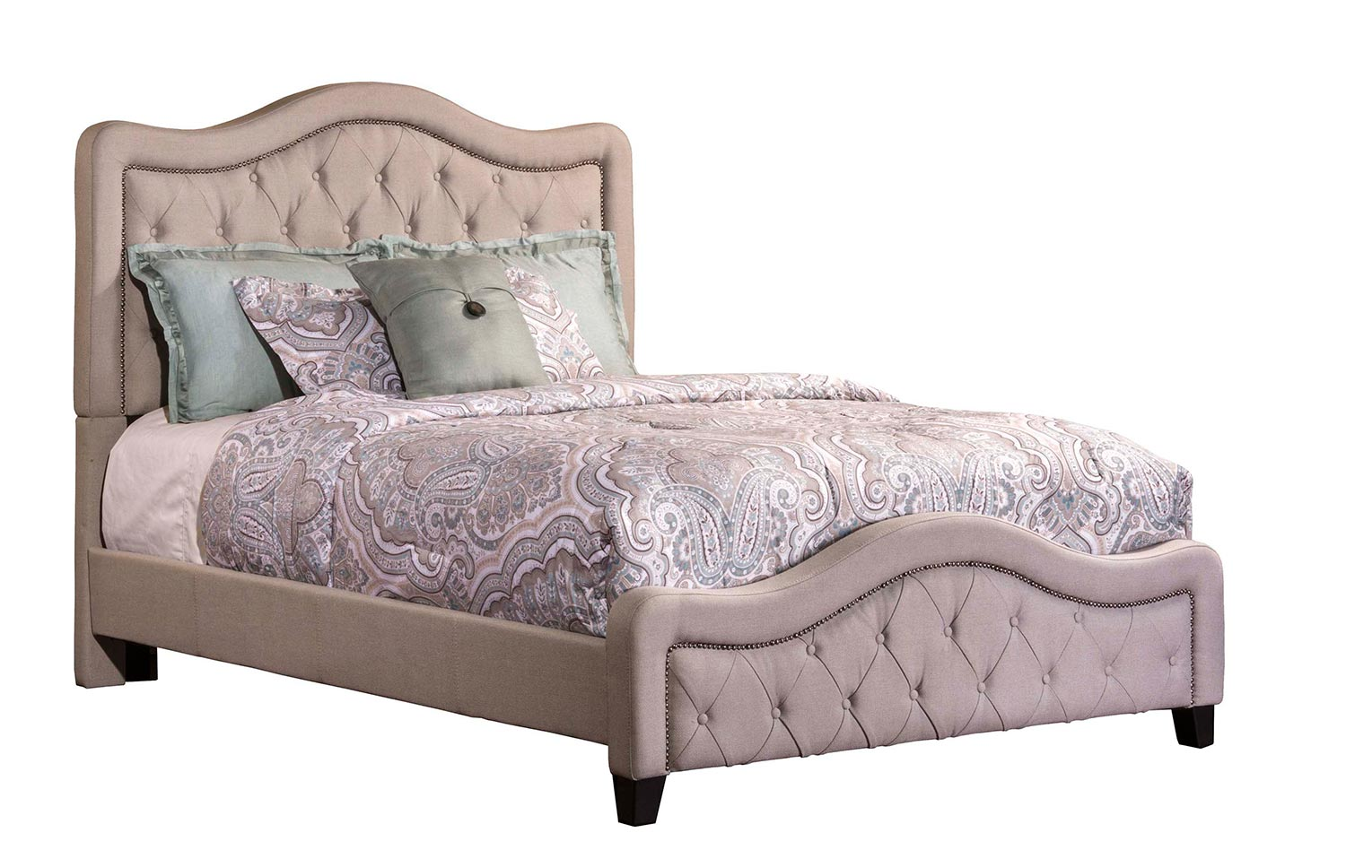 tufted upholstered bed. Hillsdale Trieste Tufted Upholstered Bed - Dove Gray