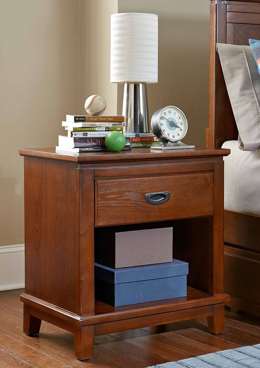 Hillsdale Bailey Night Stand Mission Oak