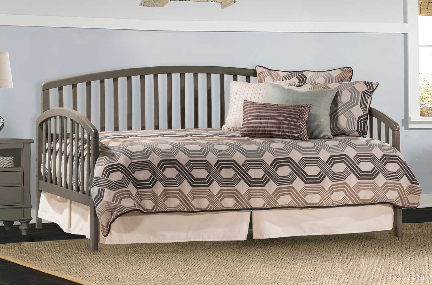 Hillsdale Carolina Daybed with Suspension Deck and Trundle - Stone