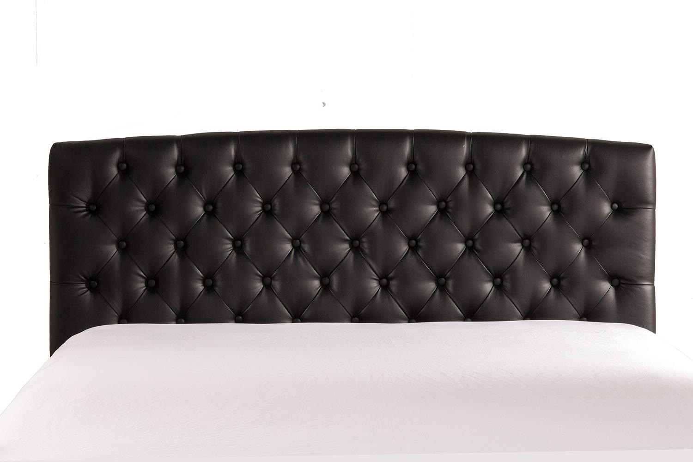 Hillsdale Hawthorne Upholstered Headboard - Black Leatherette