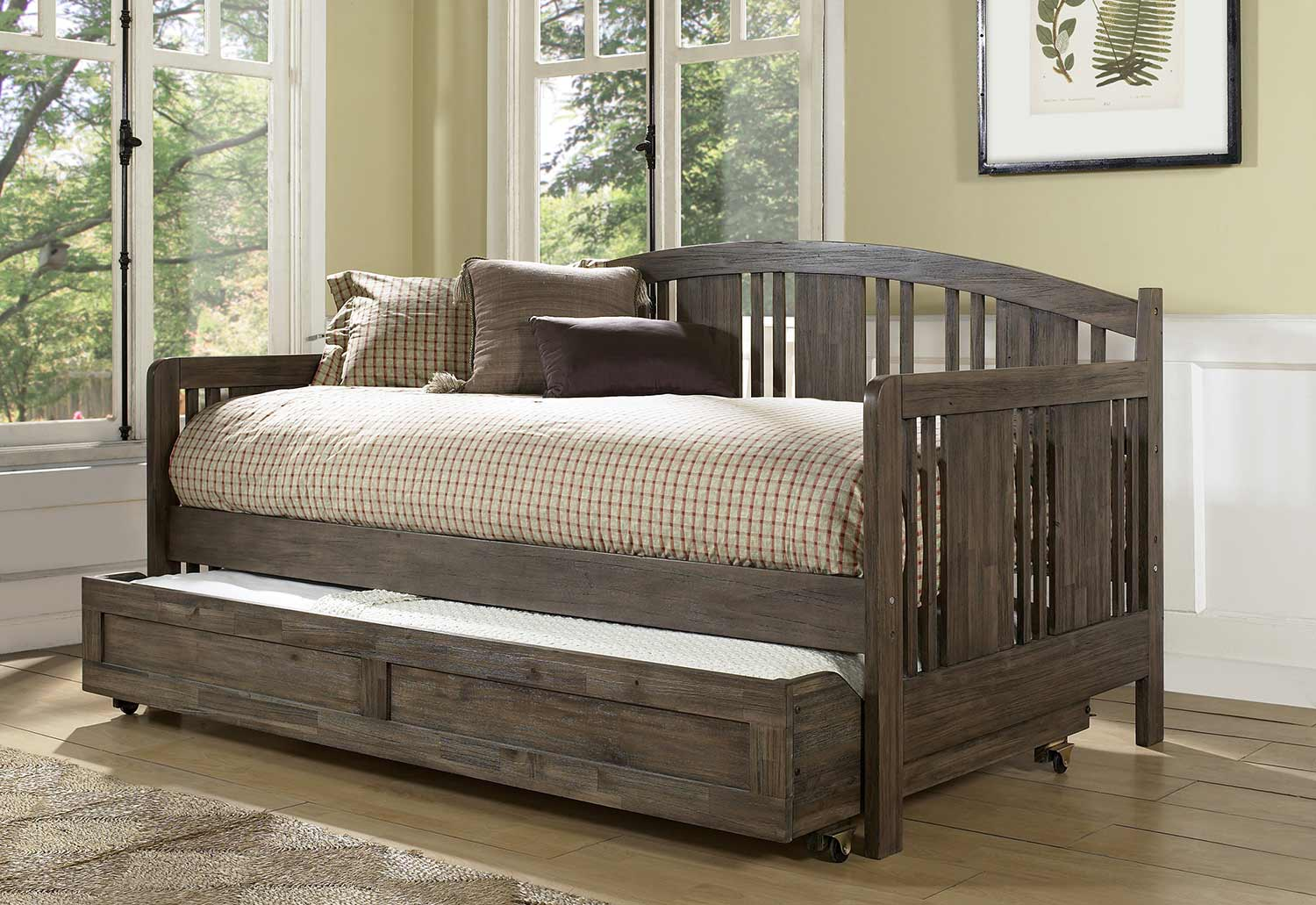 Hillsdale Dana Daybed with Trundle - Brushed Acacia