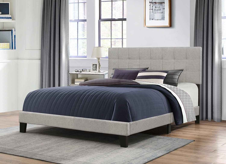 Hillsdale Delaney Bed - Glacier Gray Fabric