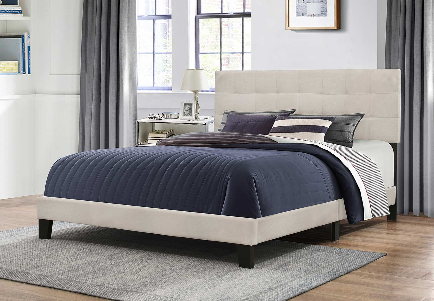 Hillsdale Delaney Bed - Fog Fabric