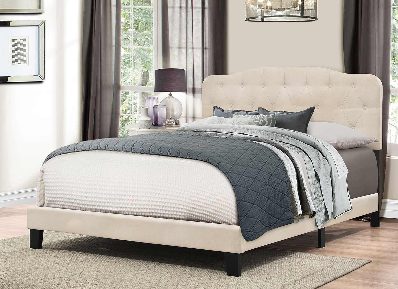 Hillsdale Nicole Bed - Linen Fabric