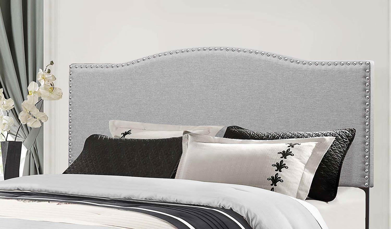 Hillsdale Kiley Headboard - Glacier Gray Fabric