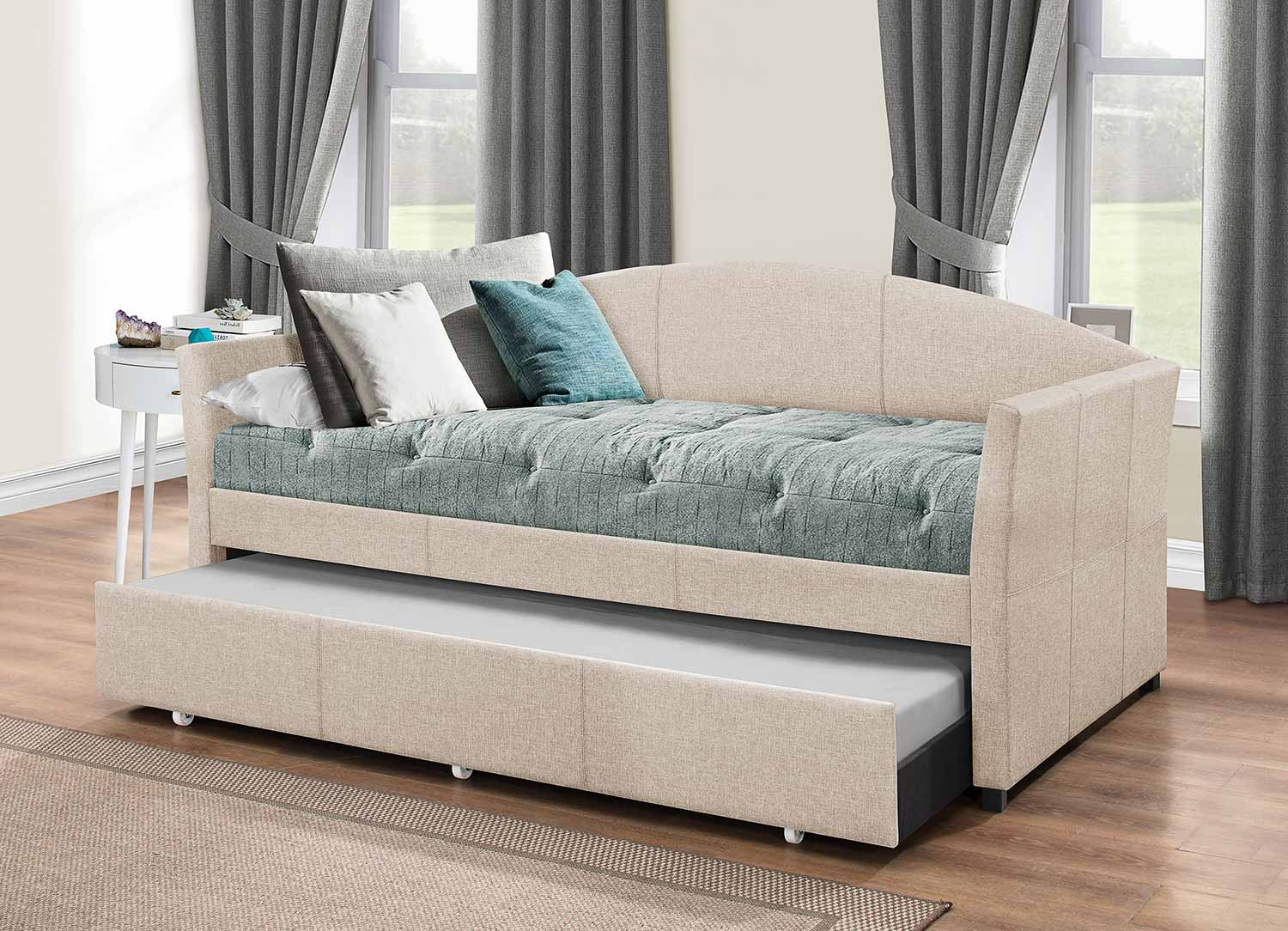 Hillsdale Westchester Daybed with Trundle - Fog Fabric