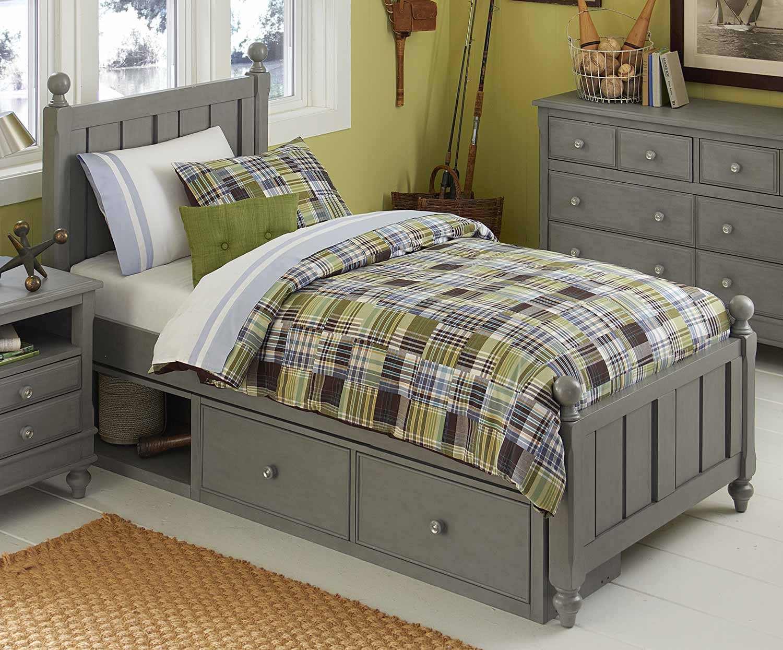 NE Kids Lake House Kennedy Bed With Storage - Stone