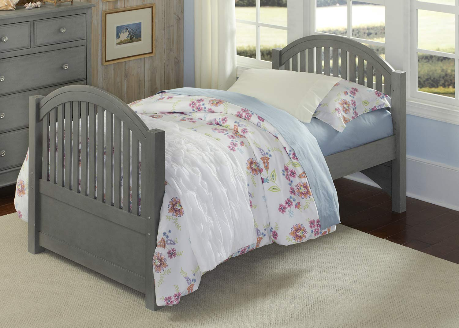 NE Kids Lake House Adrian Twin Bed - Stone