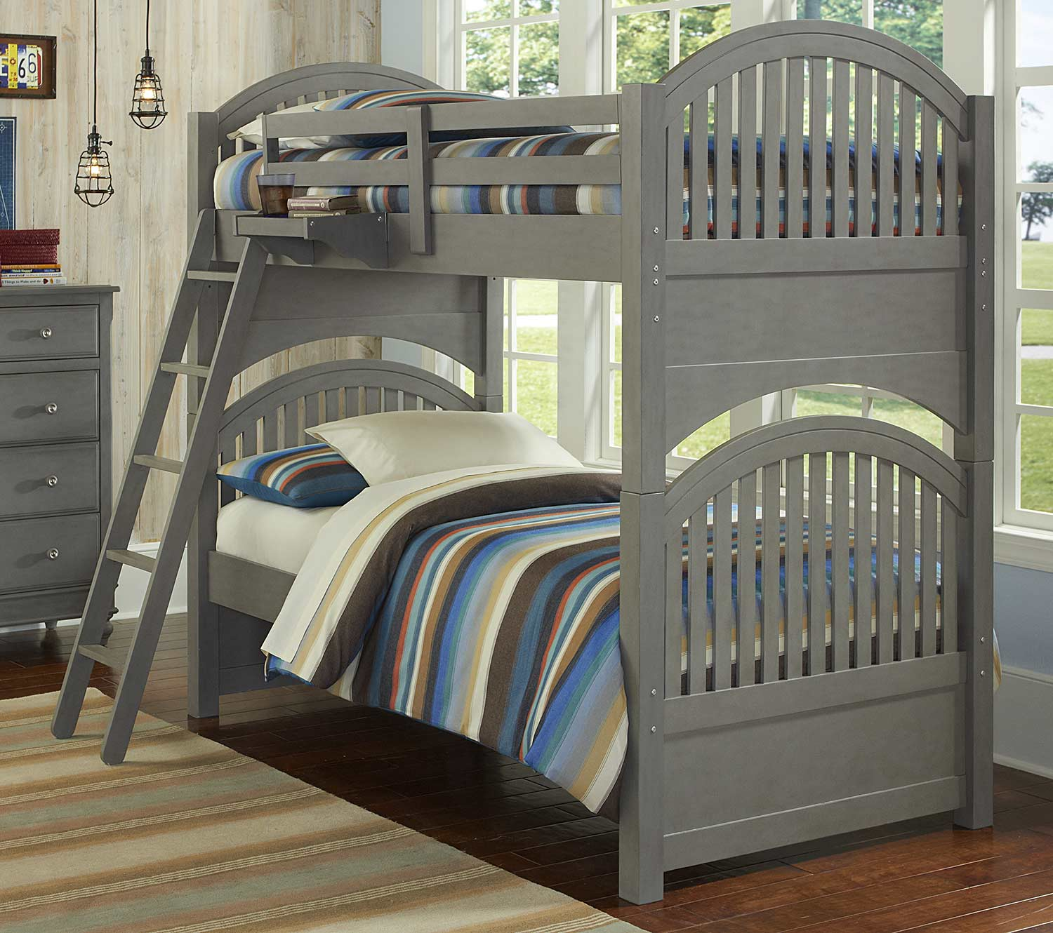 NE Kids Lake House Adrian Twin Over Twin Bunk - Stone
