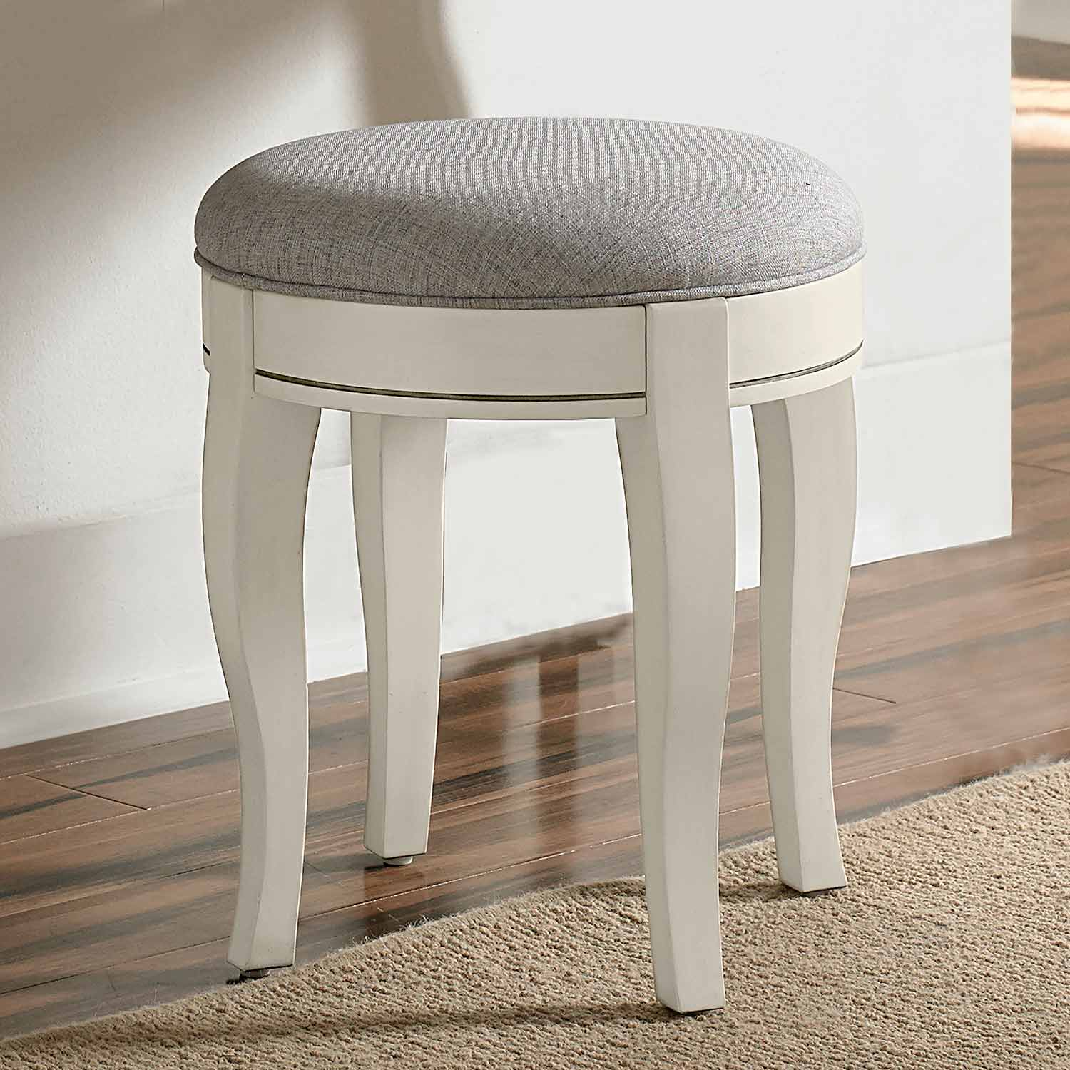 NE Kids Kensington Stool - Antique White