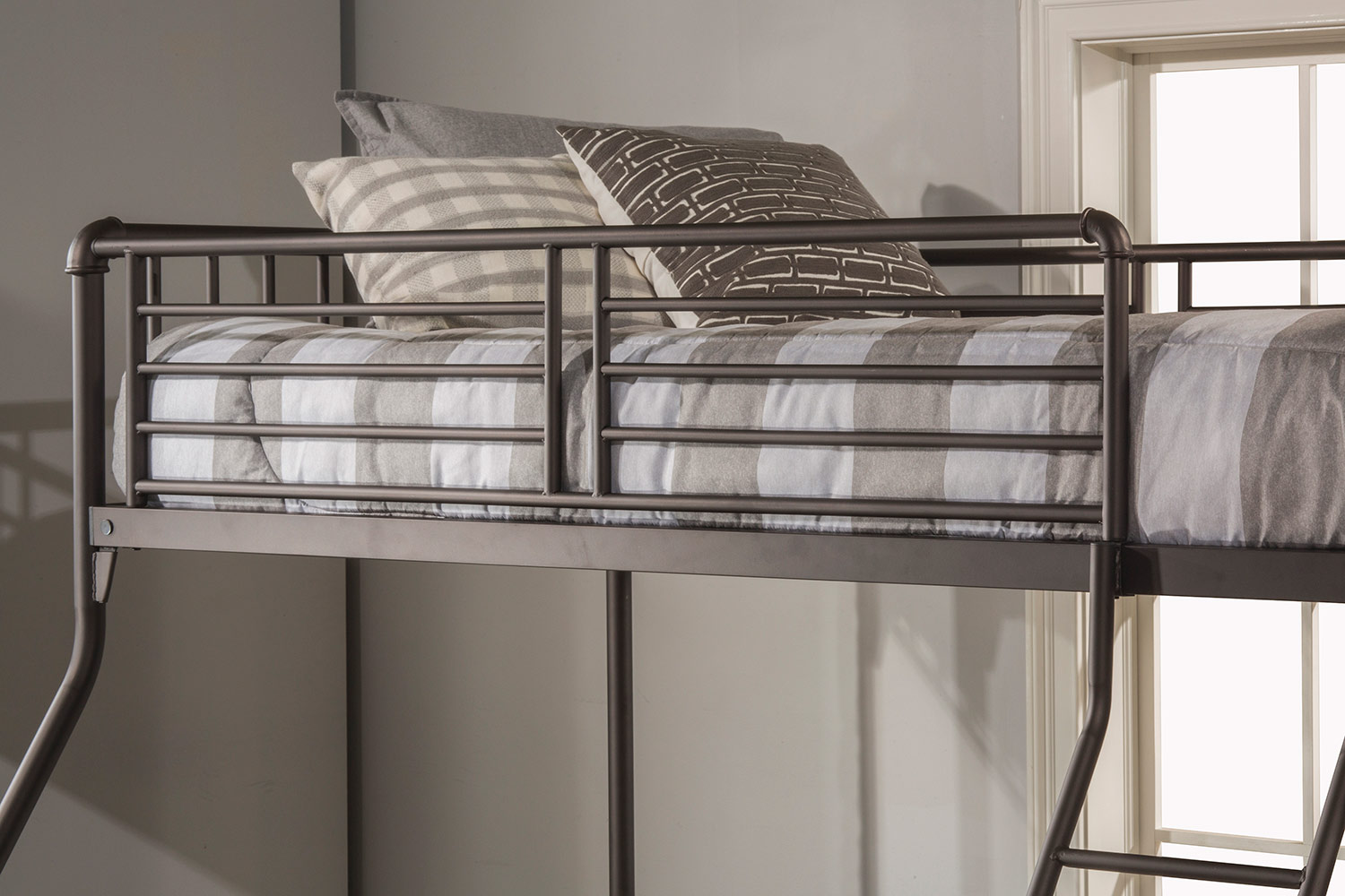 Hillsdale Brandi Twin/Full Size Bunk Bed - Oiled Bronze