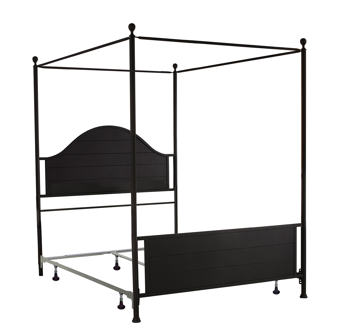 Hillsdale Cumberland Canopy Bed - Textured Black