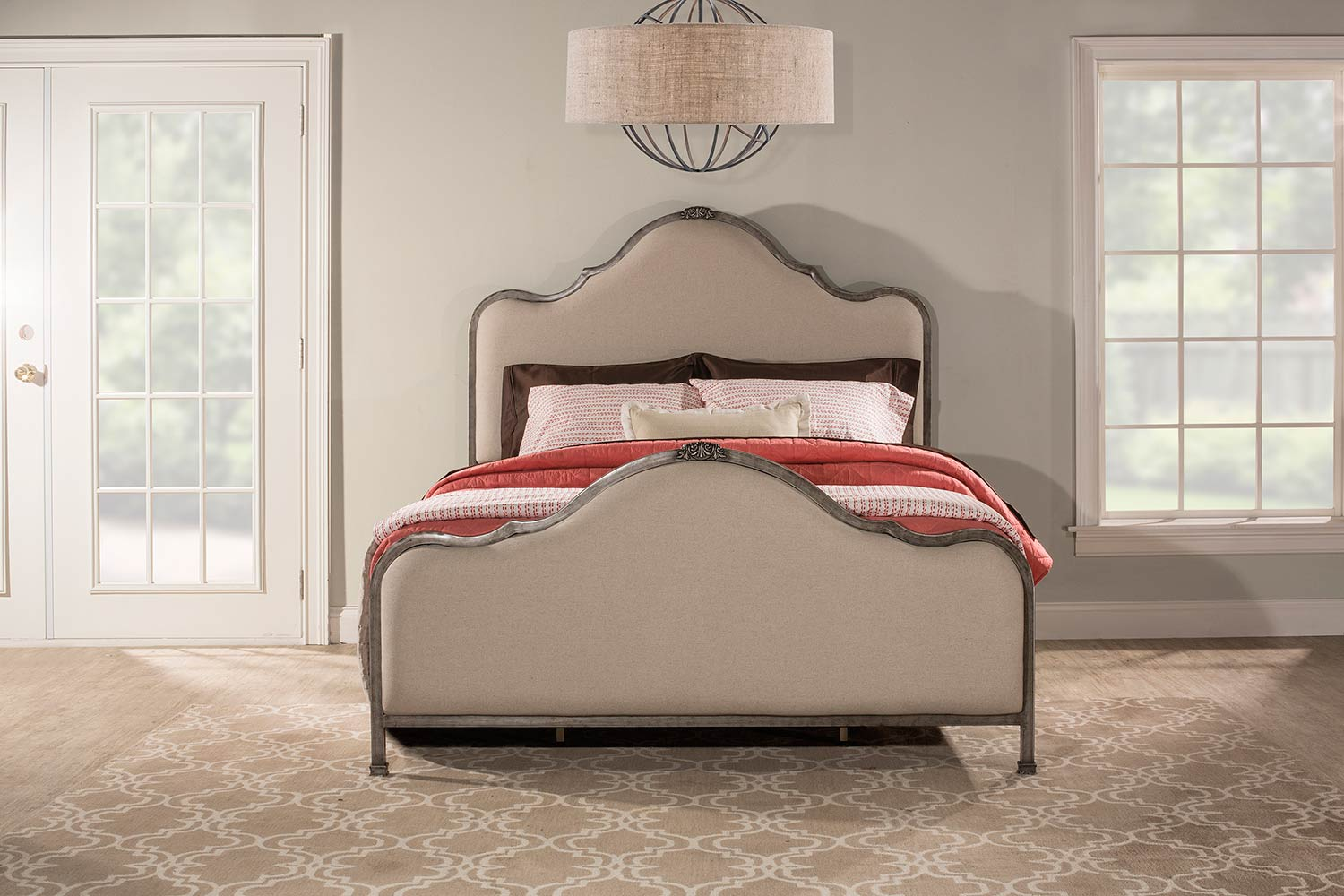Hillsdale Delray Bed - Aged Steel