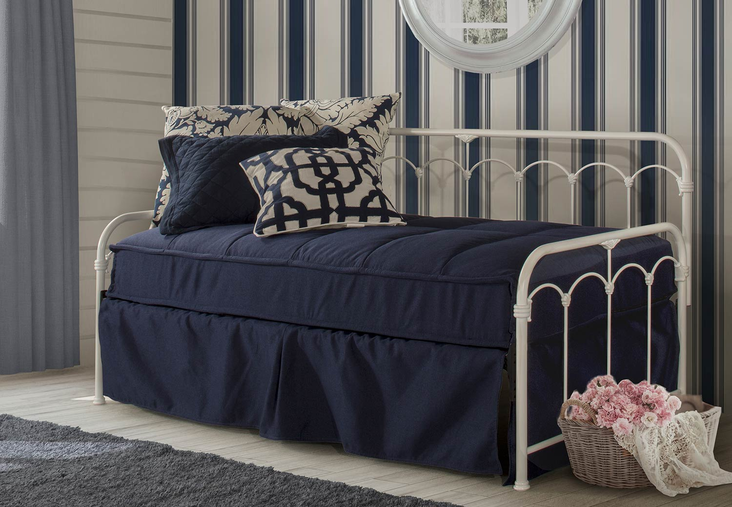 Hillsdale Jocelyn Daybed with Trundle - White