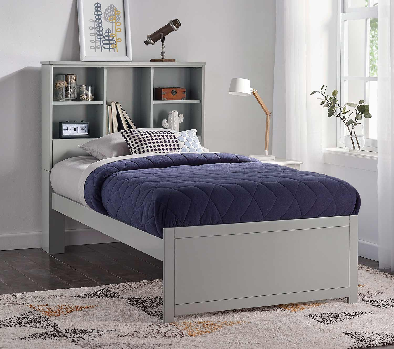 Hillsdale Caspian Twin Bookcase Bed - Gray