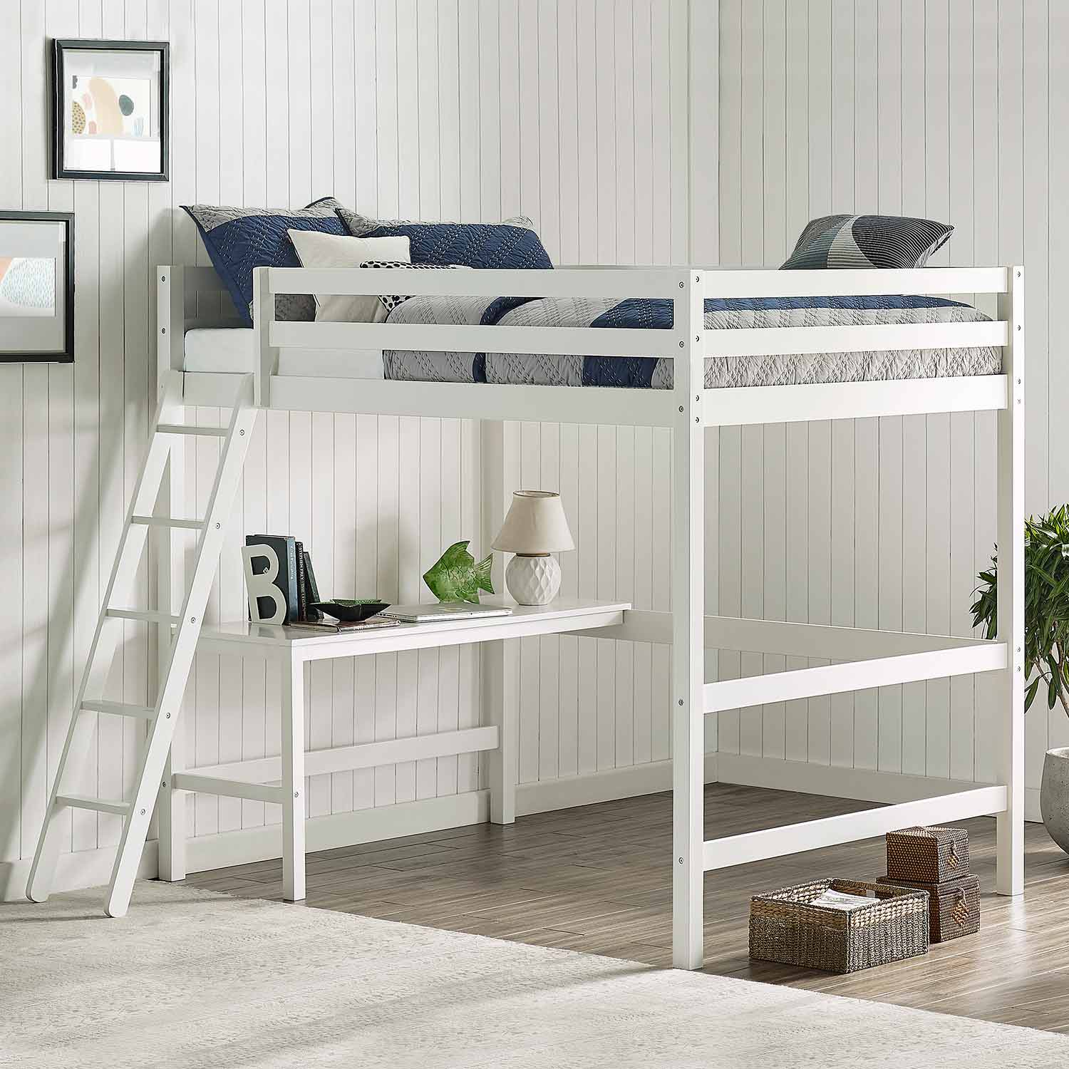 Hillsdale Caspian Full Loft Bed - White