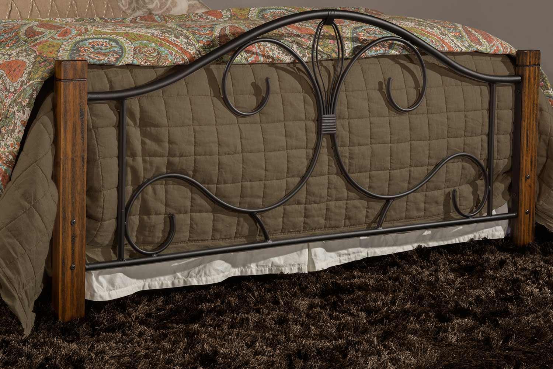 Hillsdale Destin Bed - Black/Brushed Oak