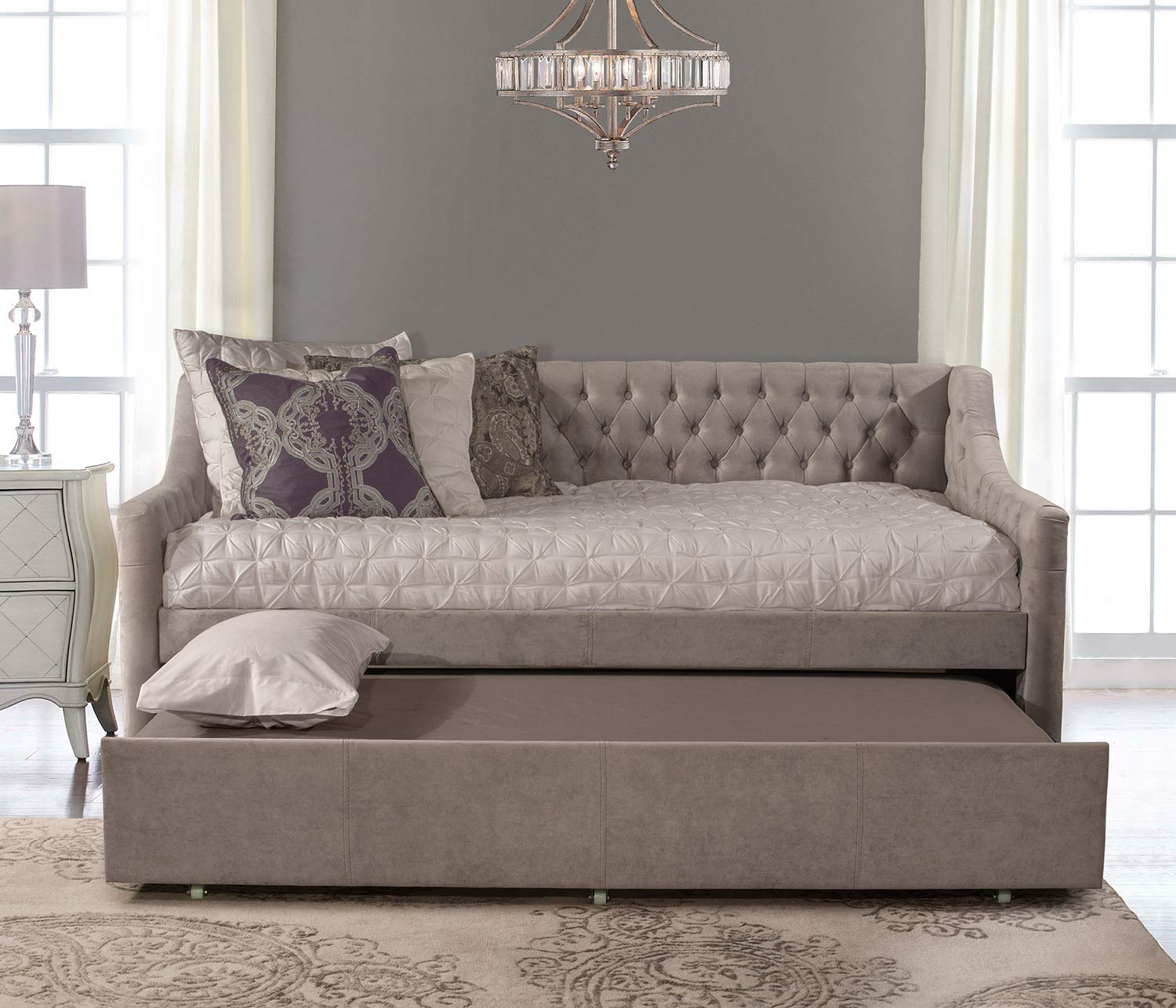 Hillsdale Jaylen Daybed with Trundle - Silver