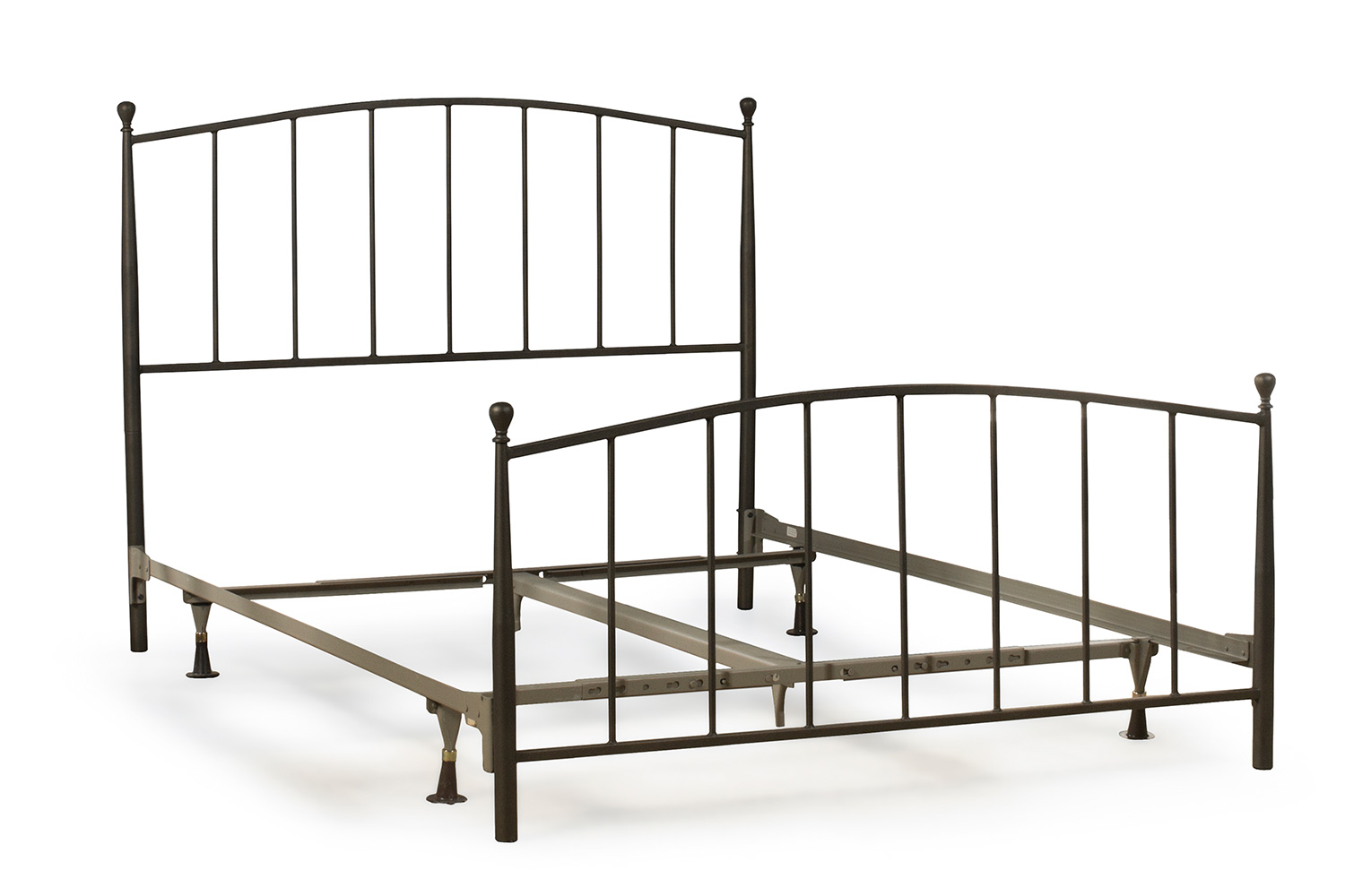 Hillsdale Warwick Metal Bed with Frame - Gray Bronze