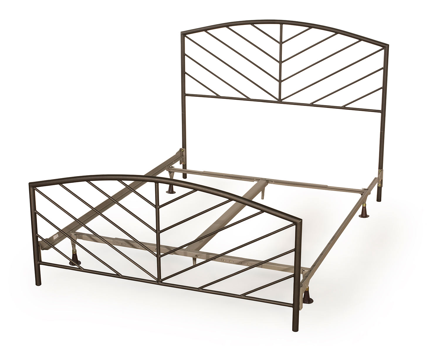 Hillsdale Essex Metal Bed with Frame - Speckled Pewter